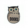 Literary kitsch Books Owl Brooch by EllyMental Jewellery