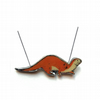 Lovely Tan Orange Otter Wildlife Resin Necklace by EllyMental