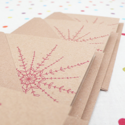 Snowflake notecards - pack of four