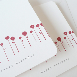 Set of two birthday cards - poppyfield