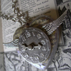 winged clock of my heart steampunk necklace