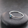 Skinny Stacking ring with Blue Topaz