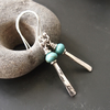 Sterling Silver and Turquoise Drop Earrings