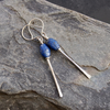 Sterling Silver and Lapis lazuli drop earrings