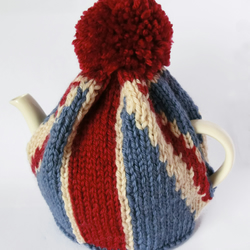 Union Jack Tea Pot Cosy Knitting Pattern