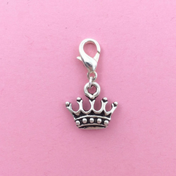 Princess crown clip on charm