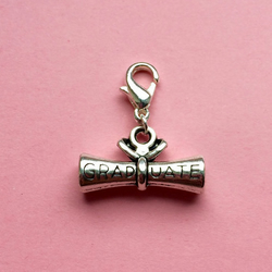 Graduate clip on charm