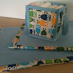 New Baby Blanket and Storage bag Gift Set