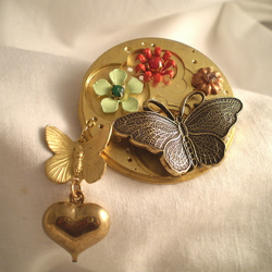 "Steampunk ""My Butterfly Heart"" Brooch"