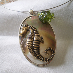 Sea Horse Shell Necklace