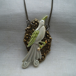 Steampunk Bird Of Paradise Necklace