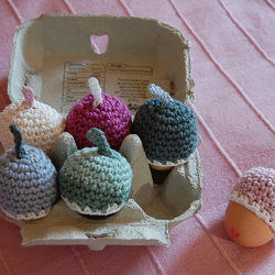 Crocheted Egg Cosies