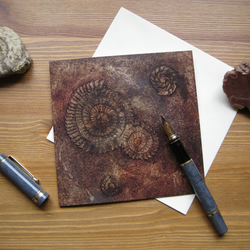 Ammonites I greetings card
