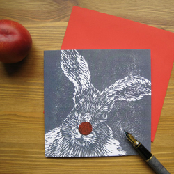 Mad March Hare greetings card