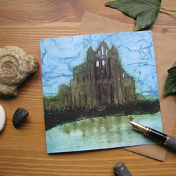 Whitby Abbey greetings card