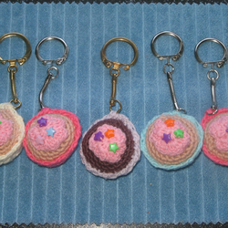 Small Crochet Cup Cake Key Ring