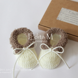 Crochet baby booties, unisex baby shoes,boots, gift for baby