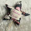 Chemo star.  Cancer gift.  A decorative star made from Liberty Lawn.