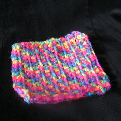 Crocheted Coaster (day-glow)