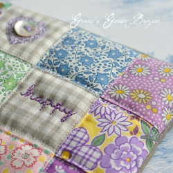Happy Patchwork Pouch/Clutch Bag