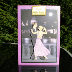 A5 Golden Wedding Card