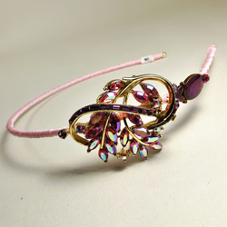 Vintage Jewellery Hairband (Baby Pink & Sparkly Purple)