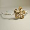 BESPOKE Vintage Gold Bead & Sequin Hairband