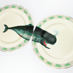 Whale of a Time plates