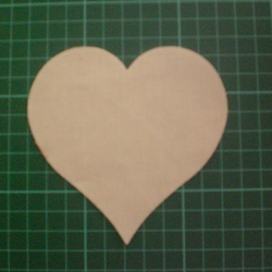 "8 Cut out Hearts 4"", Cream Cotton."