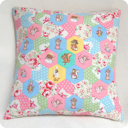 Vintage Fabric Patchwork cushion