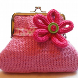Candy pink flower purse
