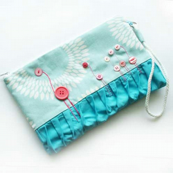 Button Flamingo Cosmetic Bag