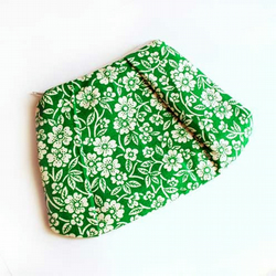 Floral Print Tucked Purse in Green