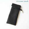 Reserved for Sonia Glasses - Sunglasses Case - Black Wool