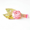 One Day Sale - Mixed Media Leaf Sprig Textile Brooch in Pistachio Rose