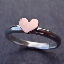 Copper Heart Ring.