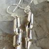 Sterling silver spiral patterned earrings