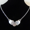 "Sterling silver bubble style necklace 18"" chain Free P&P"