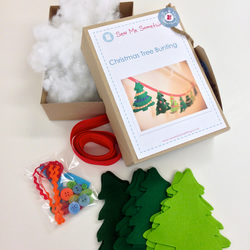Christmas Tree Bunting Sewing Kit