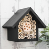 Small Bee Hotel and Insect House in Dark Green.