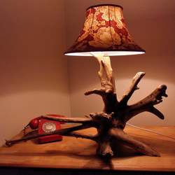 Fresh Water Driftwood Table Lamp - HAS BEEN SOLD