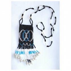 Beaded Amulet Purse Necklace