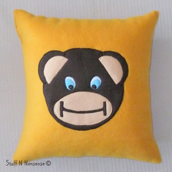Cheeky Monkey Beanbag Cushion Yellow