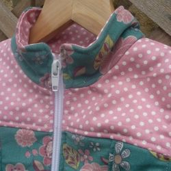 Blue and Pink Corduroy and Cotton gilet - Body warmer to fit 4-5 yrs