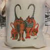 Tote Bag-cotton bag-printed tote bag (GINGER CATS) - reusable tote bag.