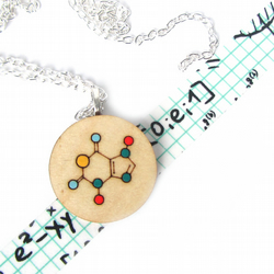Chemistry Chocolate Formula Geeky Wooden Necklace