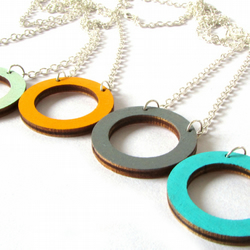 Wooden Circle Hoop Necklace