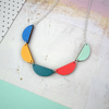 Wooden Bunting Scallop Necklace