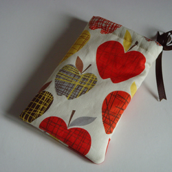 iPhone 5 Case Ipod Case Drawstring Pouch - Apples