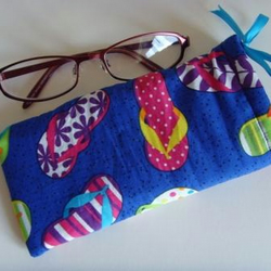 Glasses Case - Royal Flip Flops BLACK RIBBON